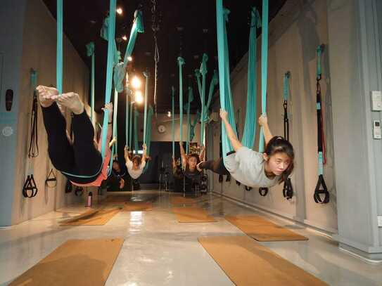 Aerial fitness and yoga studio in singapore