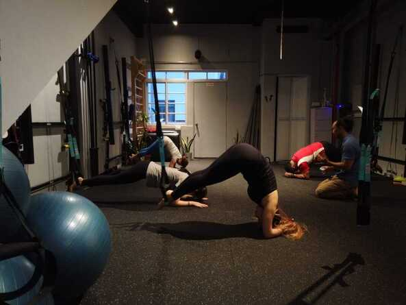 Group personal training using suspension at MSMCHQ gym